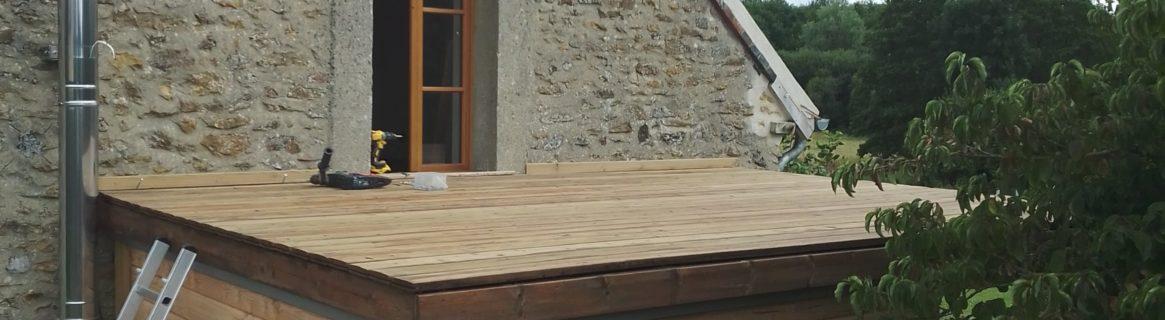 terrasse sur pergola